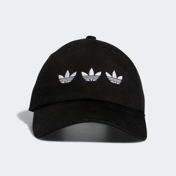 adidas Other - ADIDAS TRIPLE TREFOIL STRAP-BACK RELAXED BLACK HAT